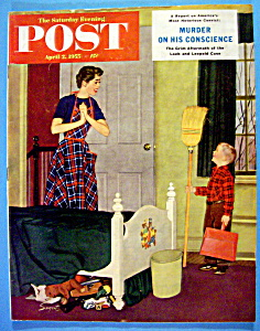 Saturday Evening Post Magazine-April 2, 1955-D. Sargent (Image1)