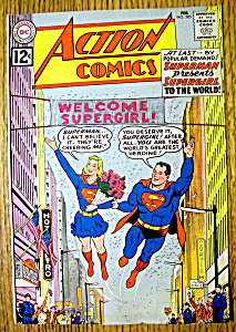 Action Comics Cover-february 1962-superman Cover