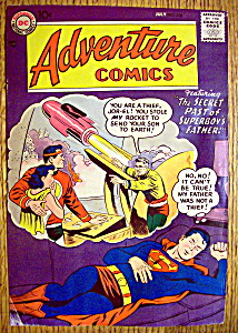 Adventure Comics Cover-july 1957-superboy