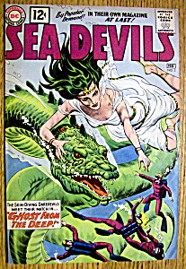 Sea Devils Comic Cover-february 1961-ghost From Deep