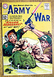 Our Army At War Comic Cover-jan 1961-killer Sergeant