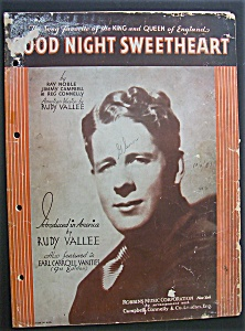 Sheet Music For 1931 Good Night Sweetheart