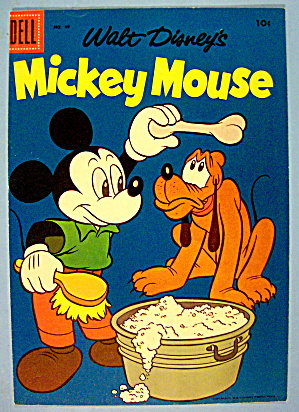 Mickey Mouse Comic Cover #49 1956 Mickey & Pluto