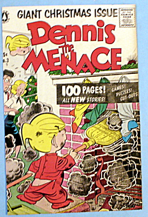 Dennis the Menace-1956 Comic Cover-Dennis & Fireplace (Image1)