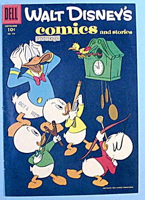 Walt Disney Comic Cover-November 1956-Donald & Nephews (Image1)