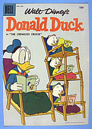 Donald Duck Comic Cover 1950's The Crewless Cruise