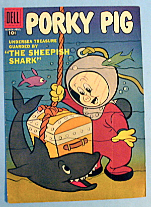Porky Pig Comic Cover-march-april 1957-sheepish Shark