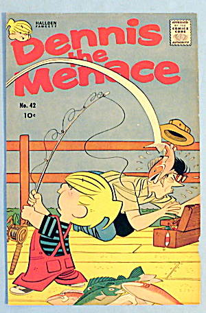 Dennis The Menace #42-1960 Comic Cover-dennis Fishing