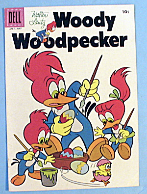 Walter Lantz Woody Woodpecker Comic Cover - May 1957