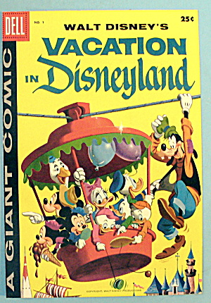 1958 Walt Disney's Vacation In Disneyland Comic Cover