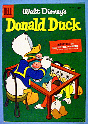 Donald Duck Comic Cover #43 September-october 1955