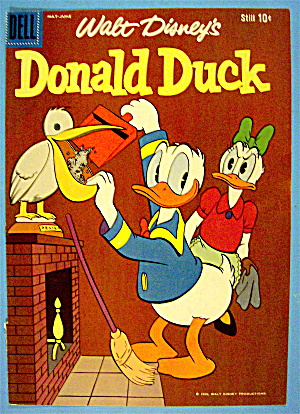 Donald Duck Comic Cover May-june 1959 Donald & Daisy