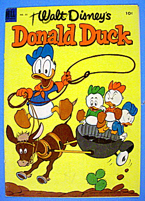 Donald Duck Comic Cover #30 July-august 1953