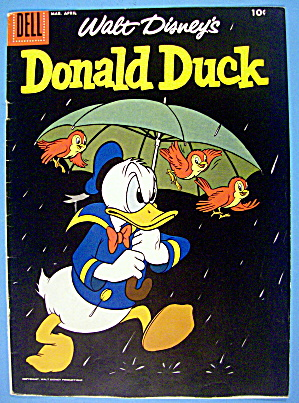 Donald Duck Comic Cover #58 March-april 1958