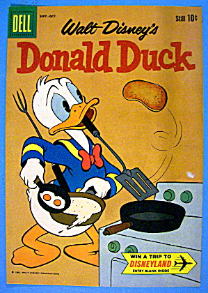 Donald Duck Comic Cover September-october 1960