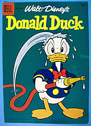 Donald Duck Comic Cover #60 July-august 1958