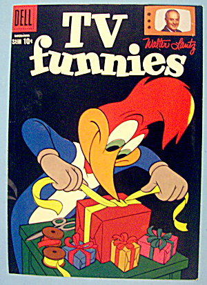 Tv Funnies Comic Cover December 1958 Woody Woodpecker