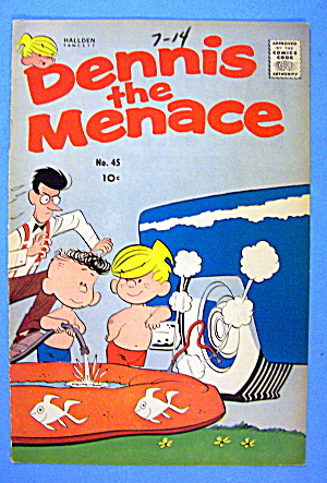 Dennis the Menace Comic Cover #45 1960 (Image1)
