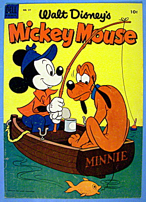 Mickey Mouse Comic Cover #37 August-september 1954