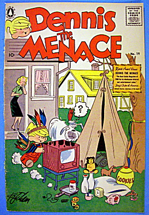 Dennis the Menace Comic Cover #19 November 1957 (Image1)