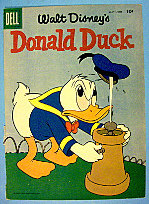Donald Duck Comic Cover #59 May-june 1958