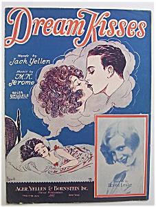 Sheet Music For 1927 Dream Kisses (Image1)