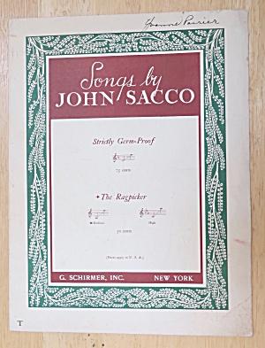1941 The Ragpicker Sheet Music By John Sacco  (Image1)