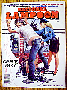 National Lampoon Magazine-april 1987