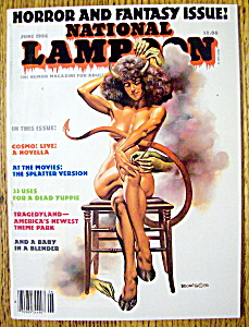 National Lampoon Magazine-june 1986