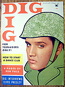 Dig Magazine (Cover Only)-may 1958-elvis Presley