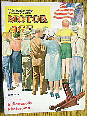 Motor Age Magazine-june 1956-bradley Cover