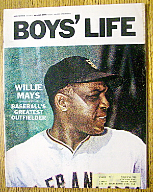 Boys' Life Magazine-march 1966-willie Mays