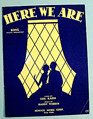 1929 Here We Are By Harry Warren