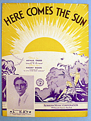 1930 Here Comes The Sun By Harry Woods