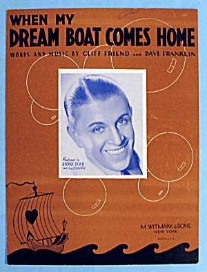 1936 When My Dream Boat Comes Home by Cliff Friend (Image1)