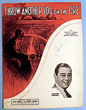 1933 Throw Another Log On The Fire By Charles Tobias