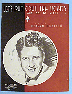 1932 Lets Put Out The Lights By Herman Hupfeld