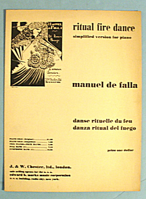 1921 Ritual Fire Dance By Manuel De Falla