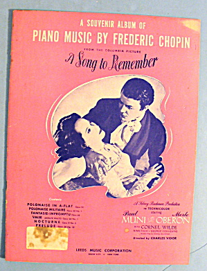 1945 A Song To Remember By Frederic Chopin
