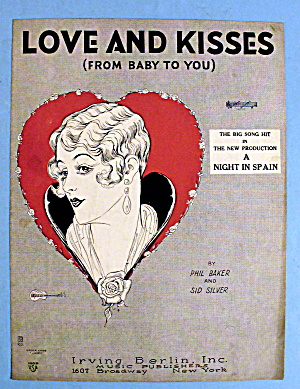 1927 Love And Kisses By Phil Baker And Sid Silver