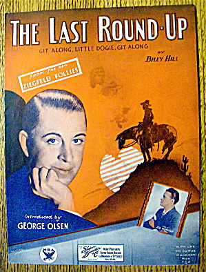 1933 The Last Round-up By Billy Hill-george Olsen Cover