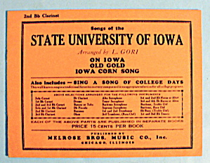 1930 Songs Of The State University Of Iowa By L. Gori