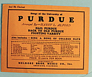 1930 Songs Of University Of Purdue By Harry L. Alford