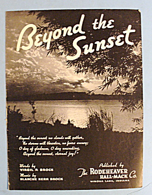 1936 Beyond The Sunset By Virgil P. Brock (Image1)