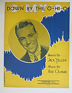 1940 Down By The Ohio By Jack Yellen & Abe Olman