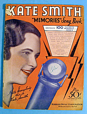 1933 Memories Song Book With Kate Smith