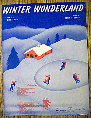 1934 Winter Wonderland By Dick Smith & Felix Bernard (Image1)