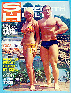 Strength & Health Magazine-february 1969-bill & Kay