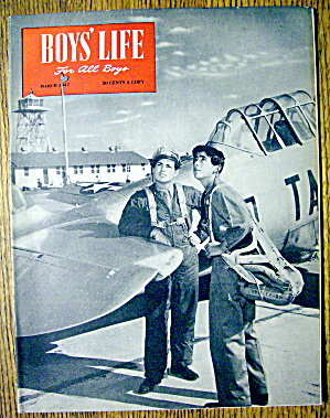 Boys Life Magazine-march 1947-army Air Corps Luke Field
