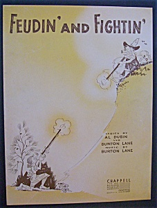 Sheet Music For 1947 Feudin' And Fightin'